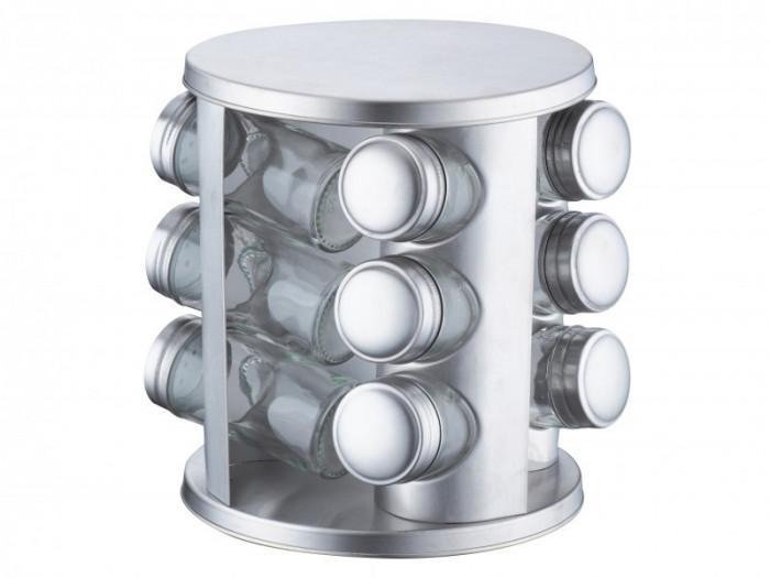 Set condimente 13 piese Dolero Peterhof, 3 nivele, suport rotativ rotund