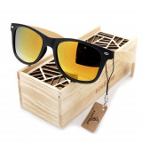 Ochelari de soare Bobo Bird CG004, lentila portocalie Wooden Lux