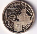 Romania 50 Bani 2012 (Mircea cel Batran) 23.75 mm, PROOF, KM-260 UNC !!!