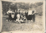 Fotografie sași Transilvania volei perioada interbelica