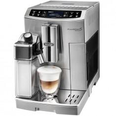 Espressor automat DeLonghi PrimaDonna Elite ECAM 510.55.M, 1450 W, 15 bar, 1.8 l, carafa lapte, display LCD, argintiu