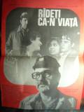 Afis pt.Filmul Radeti ca-n viata -cu Gh.Dinica ,Il.Ciobanu 1983,dim.=33x47cm