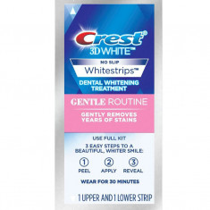 Albirea Dintilor cu Crest Whitestrips Gentle Routine - 1 Plic (2 benzi)