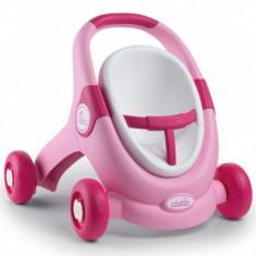 Carucior pentru papusi Play Smoby Minikiss 3 in 1 roz