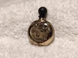 RECIPIENT PARFUM de POSETA vintage SPLENDID patina MINUNATA rar DE EFECT superb
