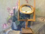 Arta / Design - Veche oglinda taraneasca model realizat manual din lemn !