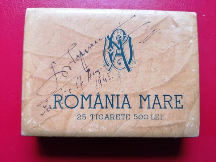 Cutie tigari tigarete Romania Mare
