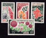 Somalia Franceza  1966  flori  MI 373-376    MNH  w57
