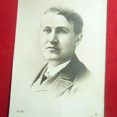 Ilustrata - Personalitati- Edison , interbelica, Necirculata, Printata