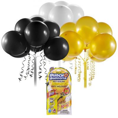 Rezerve baloane pentru petrecere Bunch O Balloons Negru/Auriu/Alb foto