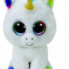 Jucarie de plus TY 24 cm Boos Pixy Unicorn alb