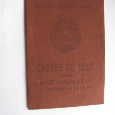 Carnet de elev, anii 80, vechi, comunist, stare foarte buna, pt liceu treapta 2a