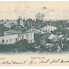 4501 - BUCURESTI, Panorama, Romania, Litho - old postcard - used - 1901, Circulata, Printata
