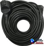 Cablu prelungitor 5m 1.0mm negru IP20, well