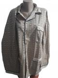 Pijama barbati cu maneca lunga cu nasturi si pantaloni lungi cod 187