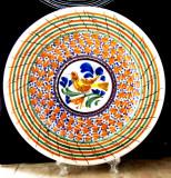 Cumpara ieftin Farfurie veche lucrata manual in Mexic. Semnata Casas P.AR.D30cm/959gr.