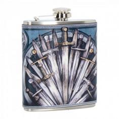 Butelcuta (plosca) inox pentru bauturi alcoolice medievala Sabii 200 ml
