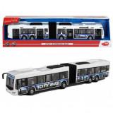 Jucarie autobuz articulat alb City Express Bus 3748001