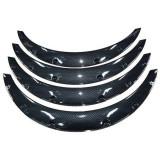 Set bandouri protectie laterala aripa overfender universale 4buc carbon 90 X 11,5