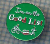 AX 660 INSIGNA -SPORTIVA -ATLETISM, INOT, CICLISM - I'M ON THE GOOD LIST