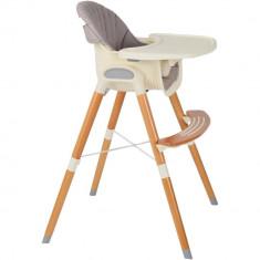 Scaun de masa cu picioare din lemn Innovation Mamakids Gri