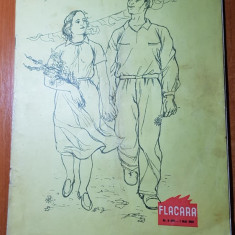revista flacara 1 mai 1956-ziua muncii si 1 an de la moartea lui george enescu