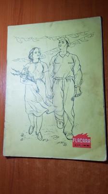 revista flacara 1 mai 1956-ziua muncii si 1 an de la moartea lui george enescu foto