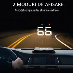 Display auto cu proiectie, LCD 3.5 inch, afisaj viteza, interfata GPS, fara reflexie