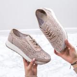 Pantofi Piele sport dama bej Iamori-20-rl