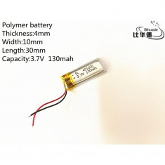 401030 - Acumulator Li-Polymer - 3,7 V - 130mah - 30x10x4 mm
