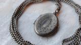 MEDALION argint LOCAS FOTOGRAFII finut BIEDERMEIER 1850 superb RAR + Lant argint
