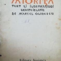Miorita Vasile Alecsandri Text si ilustratiuni gravate in lemn de Marcel Olinesu