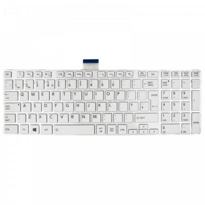 Tastatura Laptop Toshiba Satellite L855D UK alba foto