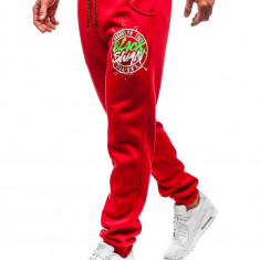 Pantaloni de trening bărbați roșu Bolf 55086