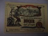 Eticheta bere Romania  BUCUR tip AZUGA - 1983  !