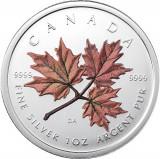 CANADA 5 DOLLARS -MAPLE LEAF- 2001- COLORAT/ 1 oz./31,39gr./Ag. 0999 /BU, America de Nord