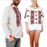 Cumpara ieftin Set Traditional Cuplu 95 Camasi traditionale cu broderie