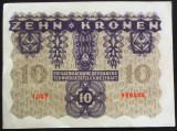 Bancnota ISTORICA 10 COROANE - AUSTRO-UNGARIA (AUSTRIA), anul 1922   *cod 867 B