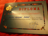 Diploma Micul Chitarist- Fundatia Romana de Chitara- Festival Internat.2006