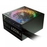 Sursa Astrape M1 650W iluminare RGB, certificata 80 PLUS, eficienta 80%