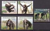 BURUNDI 2012, Fauna - Cimpanzei, MNH, Nestampilat
