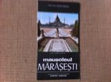 pliant MAUSOLEUL MARASESTI COMITETUL DE CULTURA SI EDUCATIE SOCIALISTA vrancea