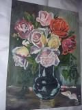 Tablou vechi pictat semnat si datat fara rama,tablu pictat pe panza,T.GRATUIT