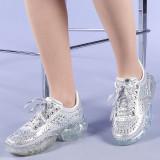 Pantofi sport dama Talida argintii, 38 - 40