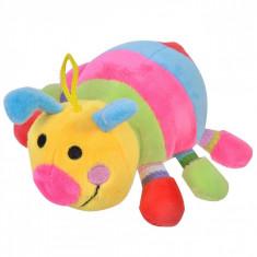 Jucarie zornaitoare, model omida, 18cm ,multicolor