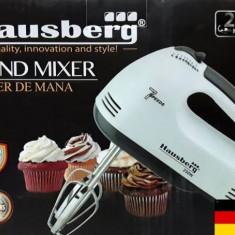 Mixer mana Hausberg HB-4112, 250 W, 7 viteze, Alb/Gri