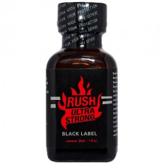 poppers RUSH ULTRA STRONG BLACK sticlă de 24ml - stimulent sexual