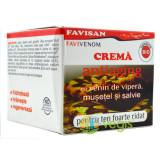Crema Antiaging Favivenom cu Venin de Vipera, Musetel si Salvie 50ml