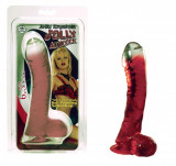 Cumpara ieftin Dildo cu ventuza - Rosu Transparent - 16,5 cm