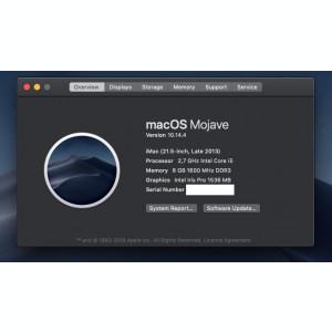 Apple  iMac, A1418,  Core i5 2.7, 21.5-Inch (Late 2013)